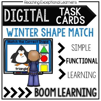 Digital Task Cards: Winter Shapes