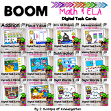 BOOM Kindergarten Math & ELA Digital Task Cards  (Distance
