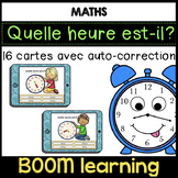 BOOM LEARNING - quelle heure est-il ? French Telling Time Task Cards