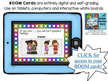 BOOM Learning-Homonyms (Multiple Meaning Words) Interactive, Digital Task Cards