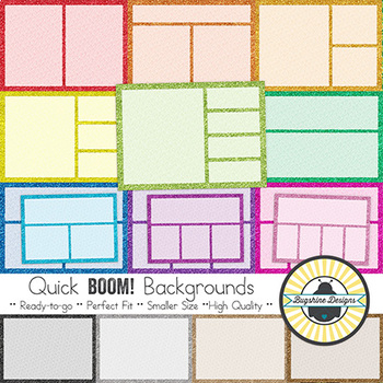 BOOM! Learning Quick Backgrounds: Glitter Dot Frames {Set 60}