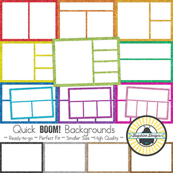 BOOM! Learning Quick Backgrounds: Glitter Frames {Set 59}