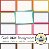 BOOM! Learning Quick Backgrounds {Set 20}