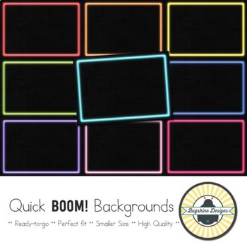 BOOM! Learning Quick Backgrounds {Set 22}