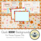 BOOM! Learning Quick Backgrounds {Set 30}