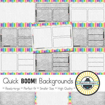 BOOM! Learning Quick Backgrounds {Set 36}