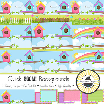 BOOM! Learning Quick Backgrounds {Set 44: Little Birdies in Houses}