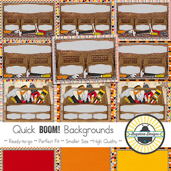 BOOM! Learning Quick Backgrounds {Set 45: Toolbox}