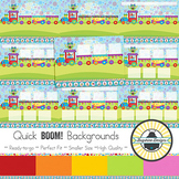 BOOM! Learning Quick Backgrounds {Set 47: Monster Party Train}