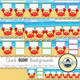 BOOM! Learning Quick Backgrounds {Set 54: So Crabby}
