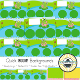 BOOM! Learning Quick Backgrounds {Set 55: Frogs}