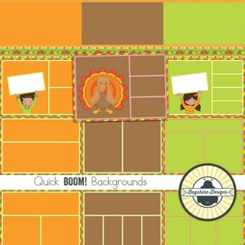 BOOM! Learning Quick Backgrounds {Set 70: Thanksgiving}