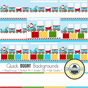 BOOM! Learning Quick Backgrounds {Set 72: Christmas Train}