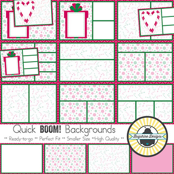 BOOM! Learning Quick Backgrounds {Set 74: Christmas Cheer ~ Pink}