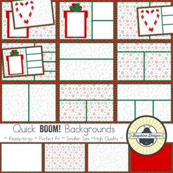 BOOM! Learning Quick Backgrounds {Set 75: Christmas Cheer ~ Red}