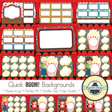 BOOM! Learning Quick Backgrounds {Set 95: Movie Night}