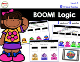 BOOM! Logic Ordinal Puzzles Level A Distance Learning
