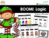 BOOM! Logic Ordinal Puzzles Level A (Holiday and Winter) D