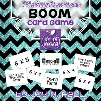 BOOM!  Multiplication Facts Card Game for Math Centers and Math Stations