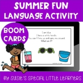 BOOM ESY SUMMER LANGUAGE ACTIVITY FOR EARLY CHILDHOOD SPECIAL ED AND SPEECH