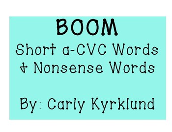 BOOM: Short A CVC Words & Nonsense Words