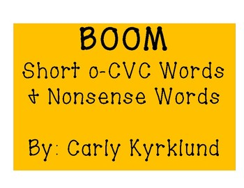 BOOM: Short O CVC Words & Nonsense Words