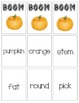 BOOM Sight Word Game - Pumpkin Themed