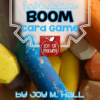 BOOM!  Subtraction Facts Card Game for Math Centers and Math Stations