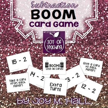 BOOM!  Subtraction Facts Card Game for Math Centers and Ma