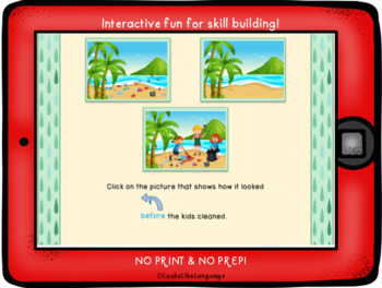 BOOM Cards Distance Learning | Speech | Sequence Earth Day | Teletherapy