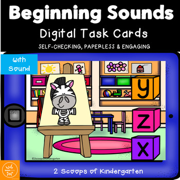 BOOM cards Beginning Sounds with audio