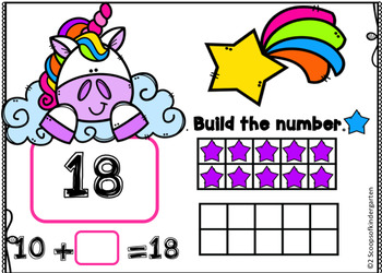 BOOM cards Building Teen Number Digital Task cards
