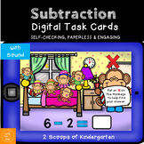 BOOM cards Kindergarten Subtraction within 10  Distance Learning