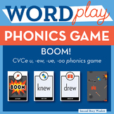 BOOM long vowel u CVCe, ew, ue, oo Phonics Game - Words Their Way Game