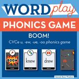 BOOM long vowel u CVCe, ew, ue, oo Phonics Game - Words Th