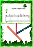 BOOMWHACKER Score and video MUSIC LESSON.St Patrick's day-