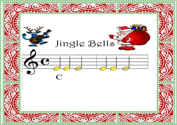 "BOOMWHACKERS AND PIANO SCORE Acompaniament. ""JINGLE BELLS"""