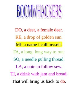 """BOOMWHACKERS """"DO A DEER"""""""