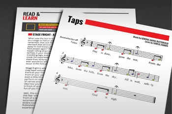 BOOMWHACKERS SHEET MUSIC: Taps - Military March