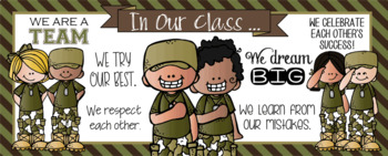 BOOTCAMP / Solider - Classroom Decor: LARGE BANNER, In Our Class - horizontal