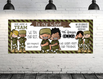 BOOTCAMP / Solider - Classroom Decor: LARGE BANNER, In Our School - horizontal