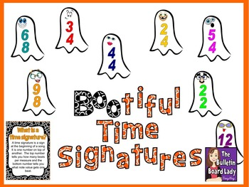 BOOtiful Time Signatures Bulletin Board for Music Class