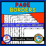 THIN PAGE BORDERS AND FRAMES (BLACK AND WHITE CLIPART)