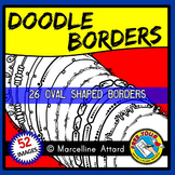 DOODLE BORDERS CLIP ART SET (OVAL BORDERS + CIRCLE BORDERS)