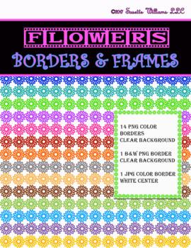 BORDERS & FRAMES: Flowers