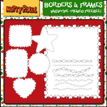 BORDERS & FRAMES- VALENTINE THEMED CLIP ART FREEBEE
