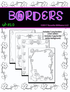 BORDERS SET #10: Bees, Bears, and Honey