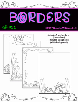 BORDERS SET #11: Frogs
