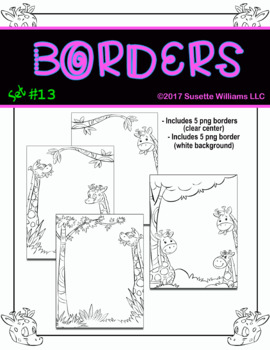 BORDERS SET #13: Giraffes