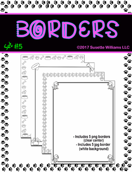 BORDERS SET #5: Puppy Accessories